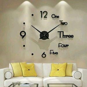 MODERN 3D Wall Clock No tools needed
